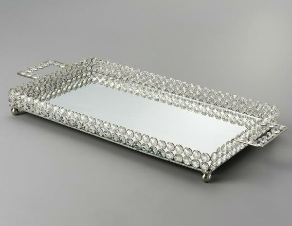 tray with application of stones