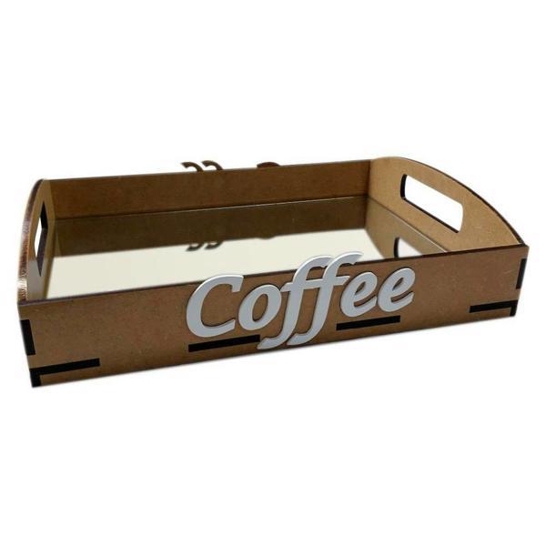 mirrored MDF coffee tray