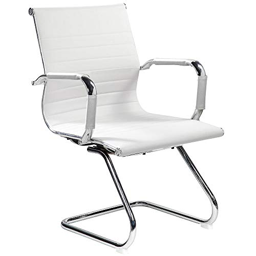 Archimede hc-9814g Dallas Waiting Armchair, Synthetic Leather, White, 54 x 62 x 89 cm
