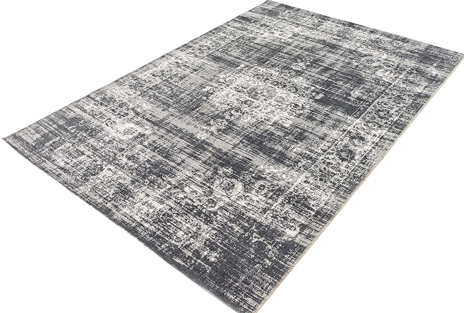 LIFA LIVING Room rugs, Carpet for Kitchen and Living room sizes (Dark Gray, 133x200cm)