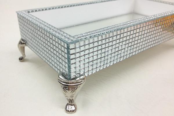 mirrored tray in mozaico