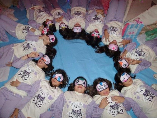 bedtime at sleepover