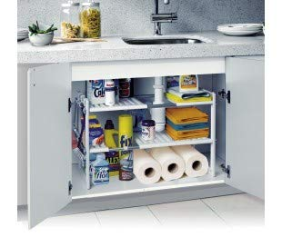 Modular shelving with 2 levels for interior cabinets and furniture (50x70x40 cm)