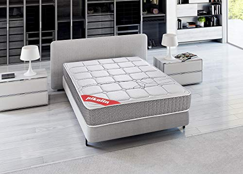 PIKOLIN Mattress 135x190 with visco pocket springs, High firmness, Reversible, maximum Quality, Height 27 cm - Troas mattresses