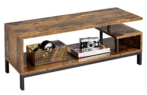 Yaheetech Coffee Table 106 x 40 x 40 cm Rustic Style TV Table Auxiliary Furniture in Living Room Coffee Tables for Living Room Vintage Low Table
