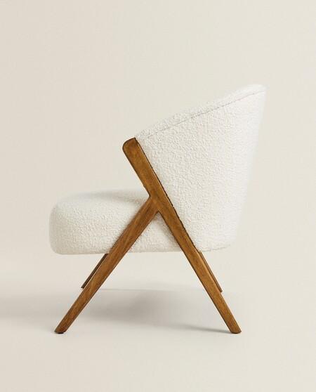 boucle armchair detail