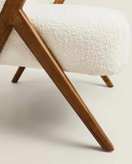 boucle armchair by zara home