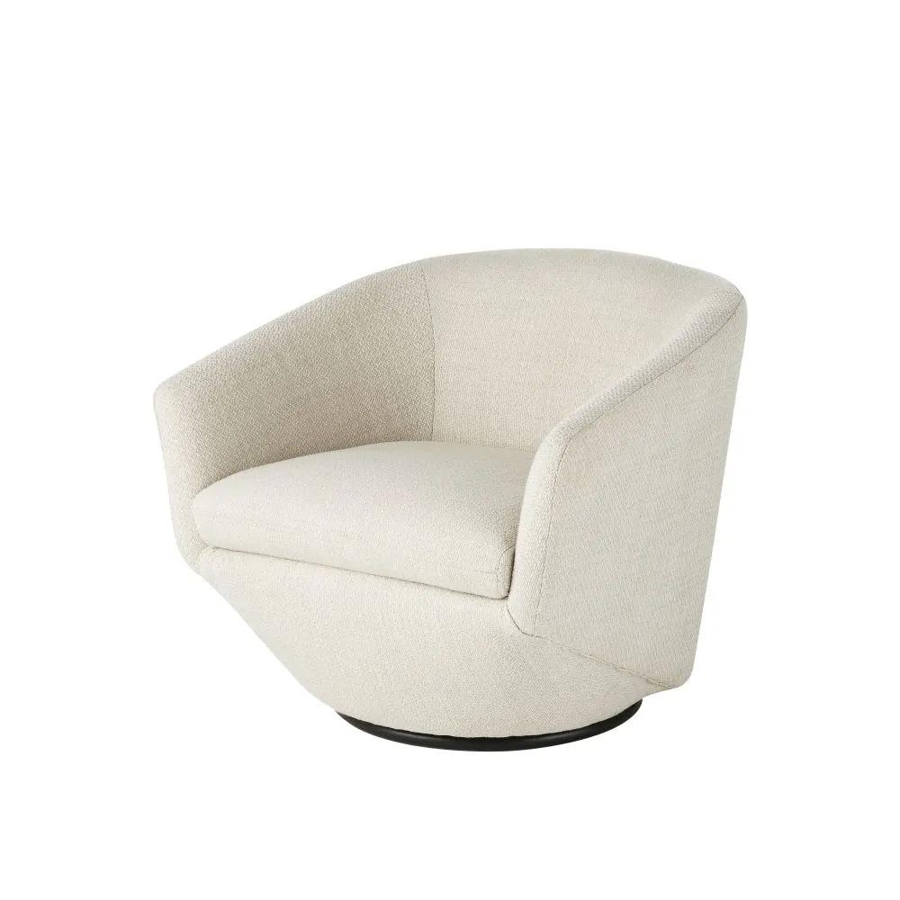 Swivel armchair mottled white and pine