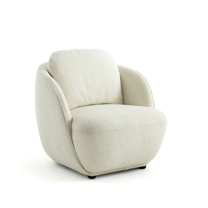 Sphere armchair with terry cloth, Alpine