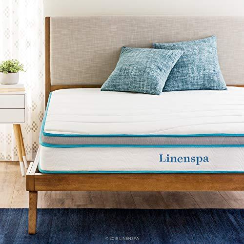 Linenspa - Memory foam and spring hybrid mattress, 20 cm, medium firm