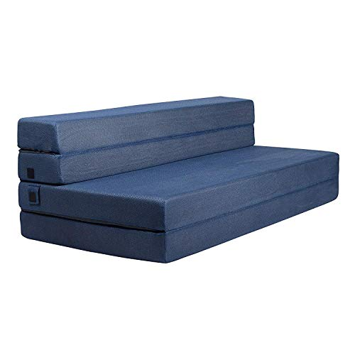 Milliard- Foam Mattress and Three-Part Folding Sofa Bed 11.5 cm Armchair Bed or Mat - Double (190 x 135 cm)