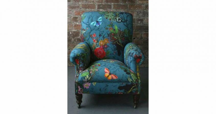 Armchair with butterflies