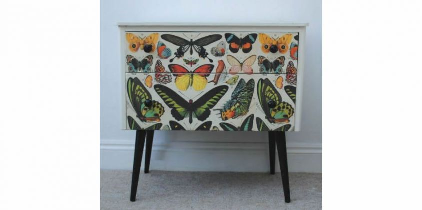 Sideboard with butterflies