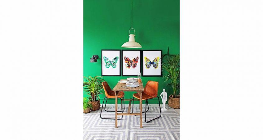 framework with butterflies