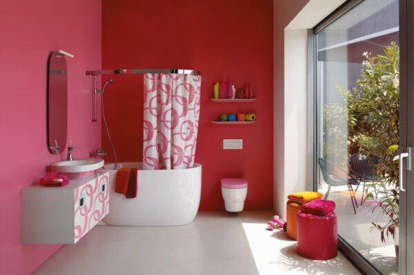 Fuchsia Colored Bathroom Walls, Fuschia Bathroom Accessories