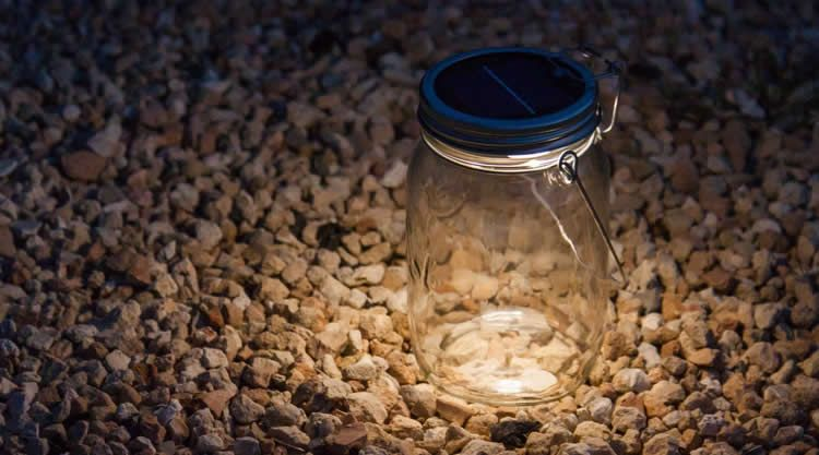 Sonnenglas Solar Lamp in Storage Jar