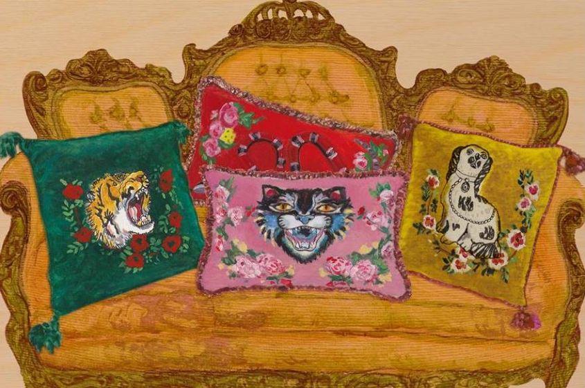 Sofa with Gucci Décor cushions