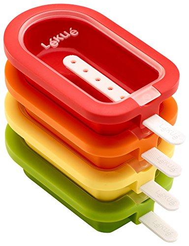 Lékué Mini Stackable Polo 10.5 cm, 4 Units, Multicolor Assortment, Silicone