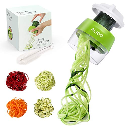 Vegetable Cutter - 4 in 1 Vegetable Grater Vegetable Cutter, Zucchini Pasta, Manual Spiral Cutter, suitable for Carrots, Cucumbers, etc.