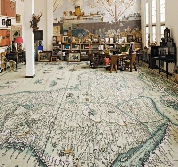 floor with map