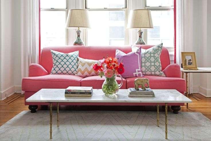 Choose a colorful sofa