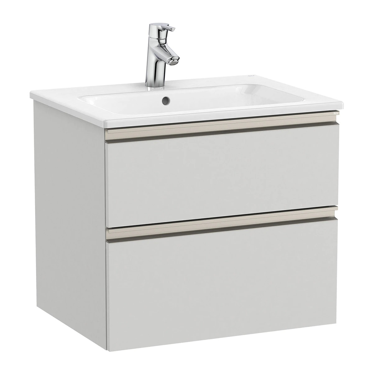 Bathroom cabinet with 2 drawers and basin The Gap Roca
