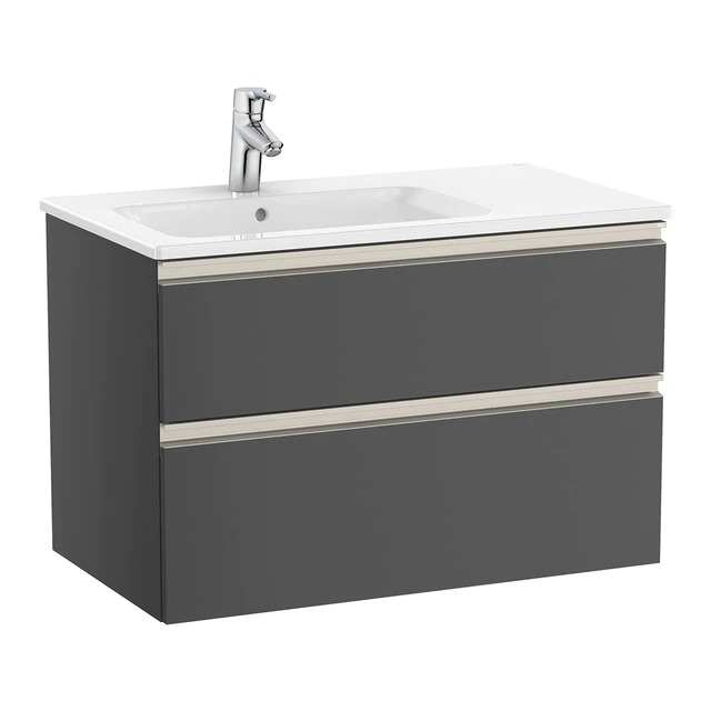 Bathroom cabinet with 2 drawers and sink on the left The Gap Roca
